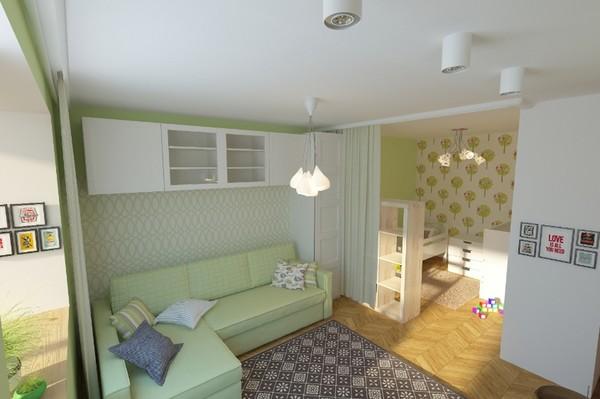 Дизайн детской комнаты в однокомнатной