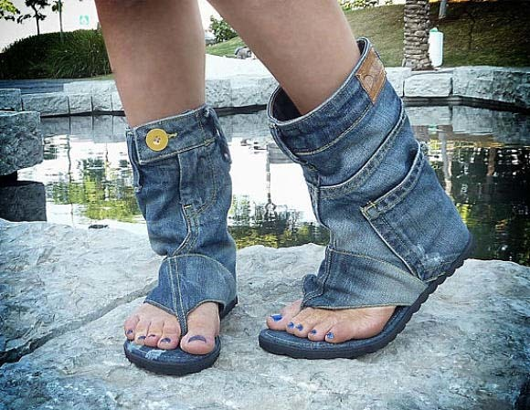 Как обрезать джинсы в шорты. как сделать самодельную жерлицу.